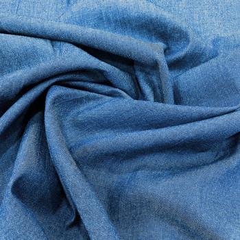 Tissu denim chambray bleu denim