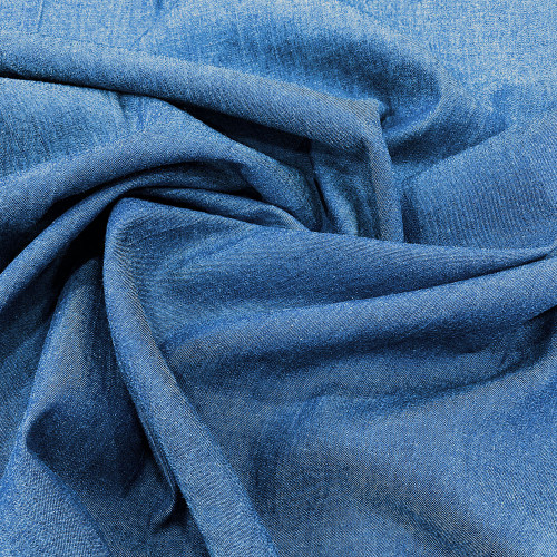 Jean denim chambray fabric washed blue