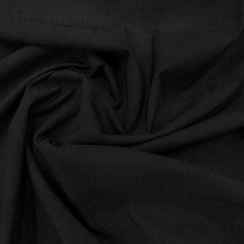 Tissu denim chambray noir