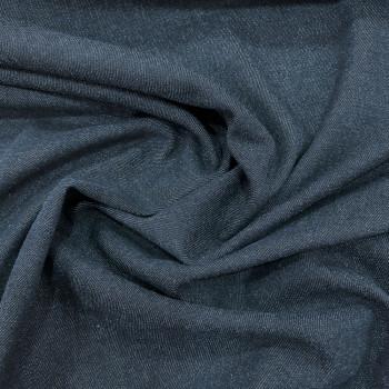 Washed blue denim stretch fabric