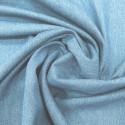 Tissu jean denim stretch bleu lisière trèfle vert