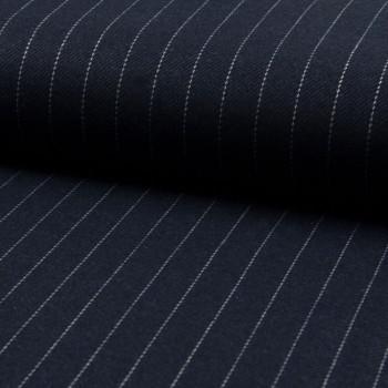 Navy blue herringbone tennis stripe fabric