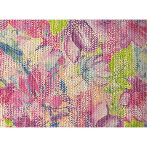 Jacquard fabric with multicolored flowers