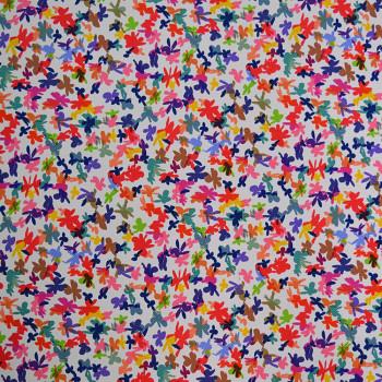 Tissu piqué imprimé 100% polyester