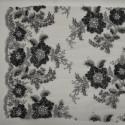 Tissu tulle brodé perlé argent/gris anthracite