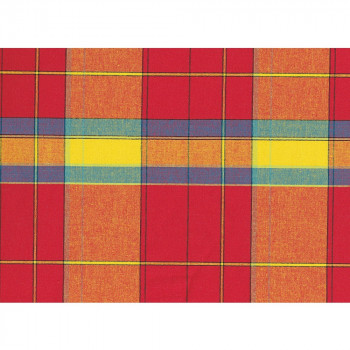 Red and yellow background 100% cotton madras fabric
