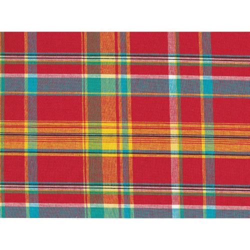 100% cotton madras fabric