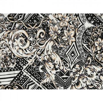 Printed cotton satin fabric