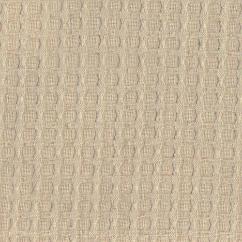 Sand beige cotton piqué fabric
