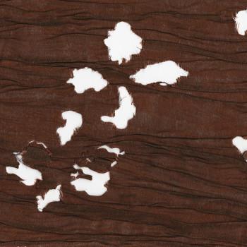 Brown laser cut fabric