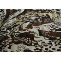 Silk chiffon fabric printed animal skin with satin bands