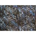 Tissu mousseline de soie imprimé bande satin zèbre