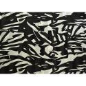 Tissu mousseline de soie imprimé noir et blanc