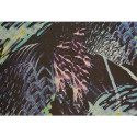 Tissu mousseline de soie imprimé abstrait (85 centimètres)
