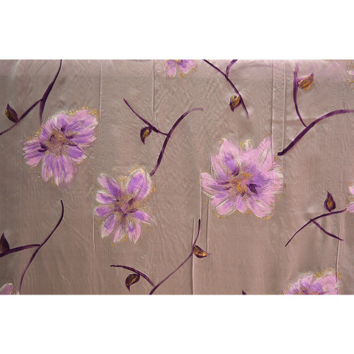 Parma chiffon fabric with hand painted sequins print