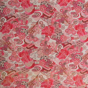 Tissu georgette imprimé floral