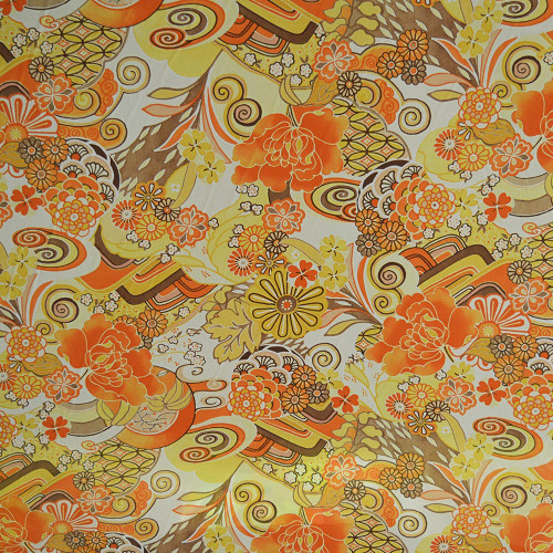 Floral printed georgette fabric