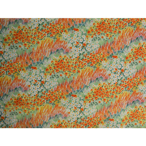 Georgette fabric with flowers print