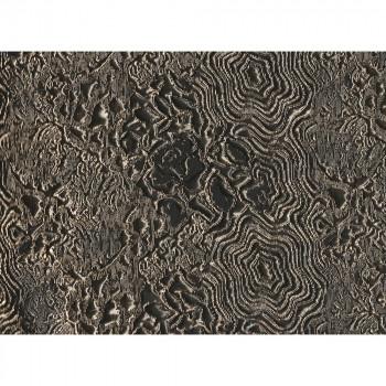 Tissu jacquard matelassé floral cuivre