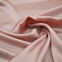Old rose satin fabric 100% silk (80 centimetres)