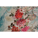 Japanese kimono patterned silk print satin fabric