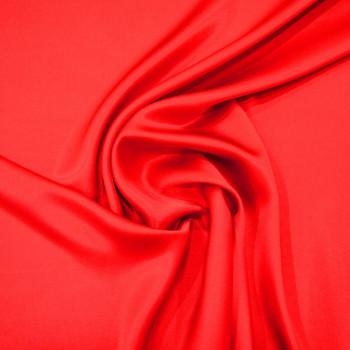 Red satin fabric 100% silk