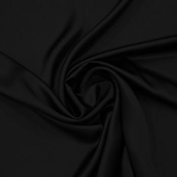 Tissu satin 100% soie noir