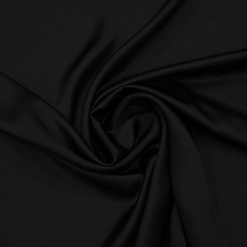 Black satin fabric 100% silk
