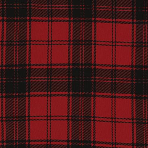 Tissu clan tartan à carreaux rouge et noir