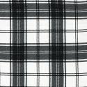 Plaid clan fabric black and white