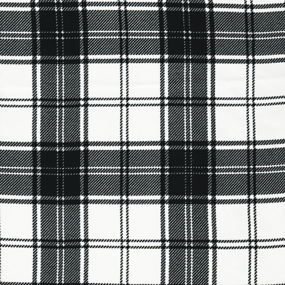 tissu clan tartan carreaux noir et blanc. Black Bedroom Furniture Sets. Home Design Ideas