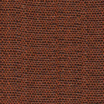 Tissu jacquard de laine orange rouille fil or