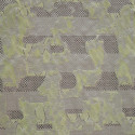 Tissu jacquard vert anis lurex
