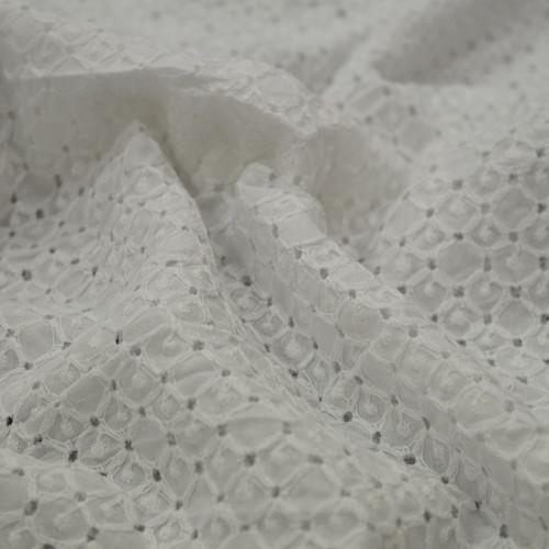 100% cotton eyelet fabric