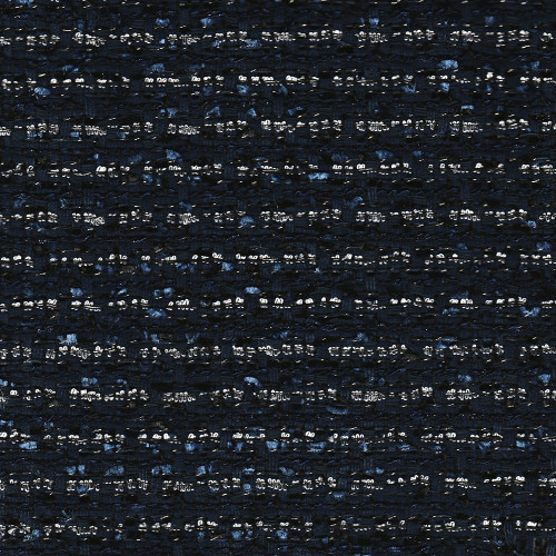 Iridescent tweed woven navy blue fabric
