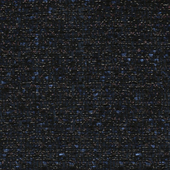 Iridescent tweed woven navy blue fabric