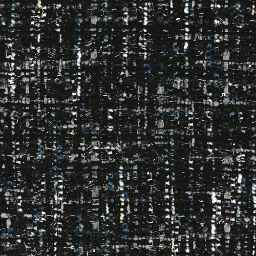 Iridescent tweed woven black fabric