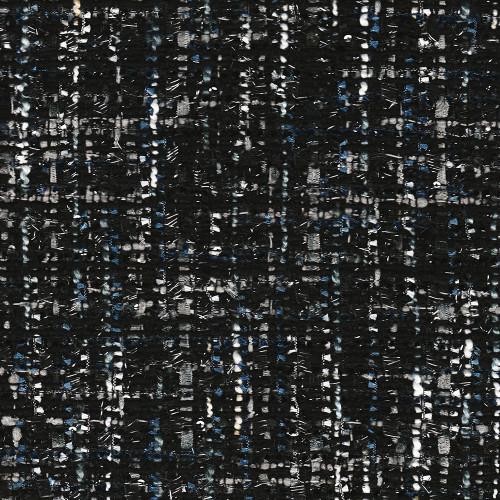 Tissu tissé et irisé effet tweed noir