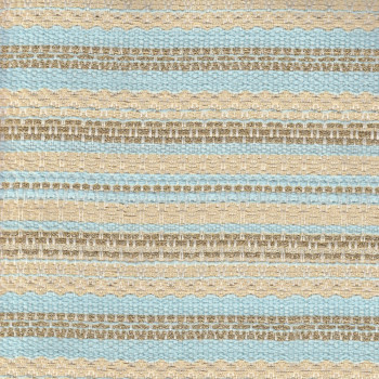Woven and iridescent gold and sky blue tweed fabric