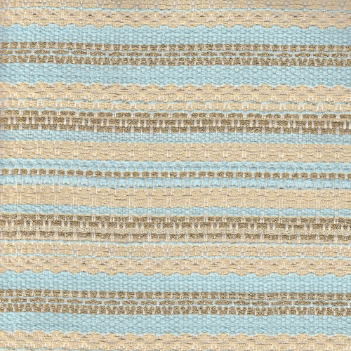 Tissu tissé et irisé effet tweed or et bleu ciel