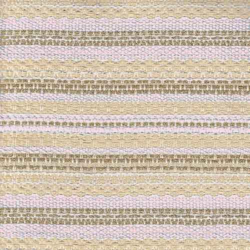 Tissu tissé et irisé effet tweed or et rose