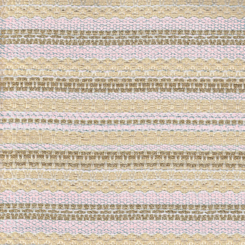 Woven and iridescent gold and pink tweed fabric