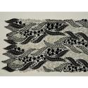 Tissu guipure lurex noir/or