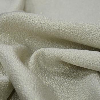Tissu jacquard de soie ivoire
