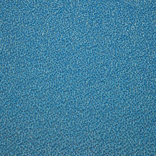 Blue silk jacquard fabric