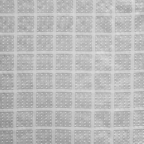 Tissu voile 100% coton carreaux effet plumetis