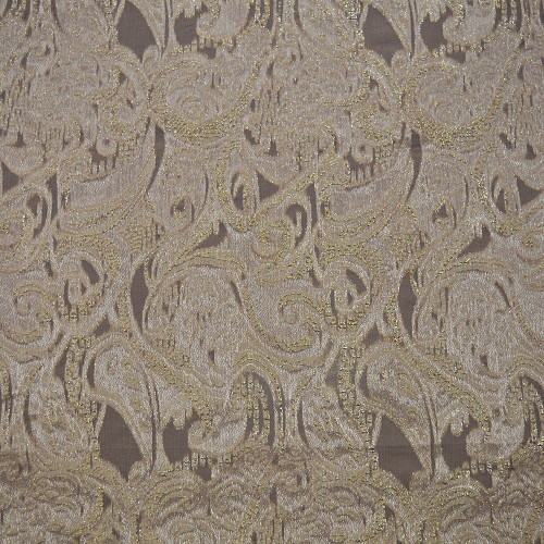 Metal silk jacquard fabric nude