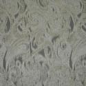 Tissu jacquard de soie métal ivoire