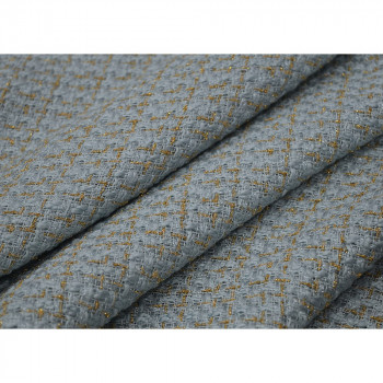 Iridescent woven tweed fabric gold and blue