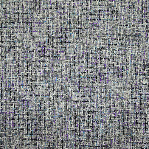 Iridescent woven tweed fabric gray and purple